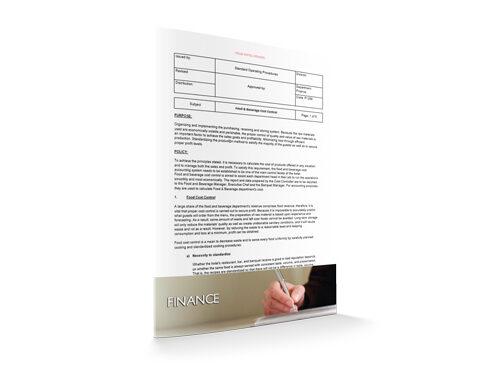 Food & Beverage Cost Control, Finance, by Sopforhotel.com