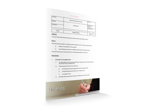 Payment Control, Finance, by Sopforhotel.com