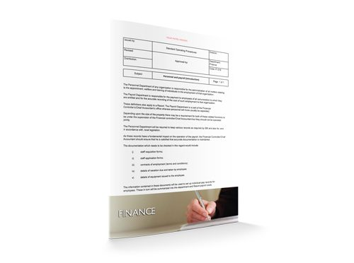 Personnel and Payroll Introduction, Finance, by Sopforhotel.com