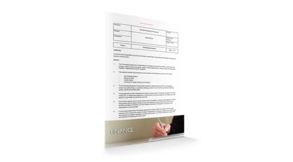 Purchasing Procedure, Finance, by Sopforhotel.com