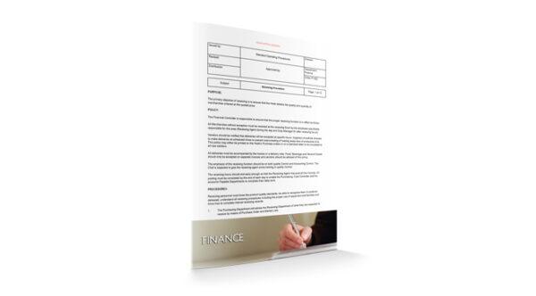 Receiving Procedure, Finance, by Sopforhotel.com