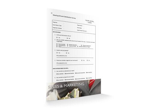 Meeting & Event Satisfaction Survey, Sales & Marketing, by Sopforhotel.com