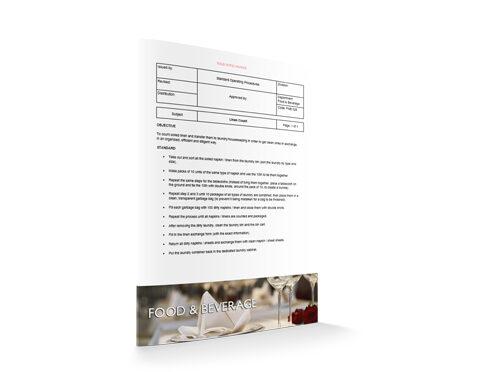 Linen Count, Food & Beverage, by Sopforhotel.com