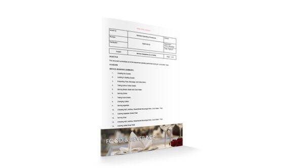 Service Sequence (A la Carte), Food & Beverage, by Sopforhotel.com